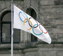 Die olympische Fahne ist auch voll schön